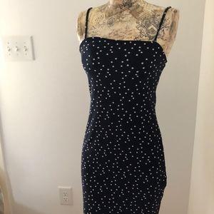 Navy Star Print Mini Dress